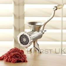 Cast Iron Traditional Manual Meat Beef Mincer Grinder Maker Hand Operated 35mm