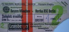 TICKET BL 1978/79 FC Bayern München - Hertha BSC