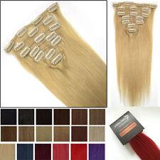 7 unidades 70g extensiones de clip de pelo natural cabello humano 38-55cm