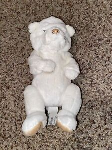 "2009 Hasbro FurReal Friends 8"" Newborn Baby White Polar Bear Cub"