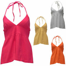 Unbranded Cotton Patternless Sleeveless T-Shirts for Women