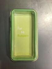 Rubber bumper case apple iphone 5 5s se green