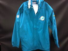 MIAMI DOLPHINS NIKE TEAM ISSUED FULL ZIP RAIN/SNOW JACKET BRAND NEW SZ-LARGE
