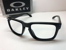 Oakley Holbrook 9244-19 Matte Black Sunglasses Frames W/Blue Metal Icons