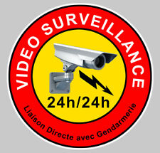 VIDEO SURVEILLANCE PROPRIETE ALARME CAMERA SECURITE 9cm STICKER VA046