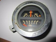 OPEL GT  1969-73 GOOD USED VDO COMBO OIL AND AMP GAUGE,  USA  SHIPPING IS FREE