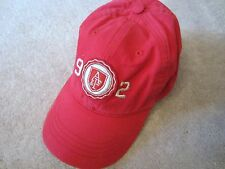 WOMENS ABERCROMBIE & FITCH RED BASEBALL CAP HAT ONE SIZE ADJUSTABLE NWT