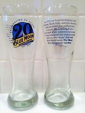 Pair of Blue Moon 20th Anniversary Pints!!!