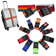 Coded Lock Travel Luggage Suitcase Safety Strap Baggage Backpack Belt Multicolor