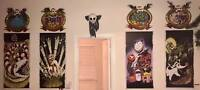 """MASSIVE Haunted Mansion Holiday Stretching Room Gallery (all4) 20x40"""" Disneyland"""