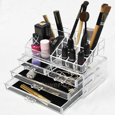 Make-Up Display Case Clear With 4 Drawers Acrylic Makeup Storage Organiser