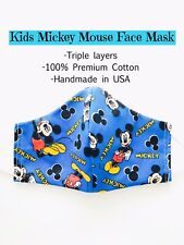 Disney KIDS Face Mask Mickey Mouse Handmade Washable Reusable Triple Layer