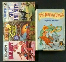 Lot of 4 -Piers Anthony- Magic Of Xanth (Hc), 3 Pb Vale of Vole Split Infinity +