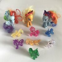 My Little Pony Bundle of 3 G4 2010 Ponies & 7 Blind Bag Glitter Ponies MLP