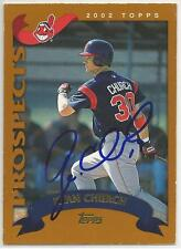 RYAN CHURCH Autographed Signed 2003 Topps Traded card Cleveland Indians COA