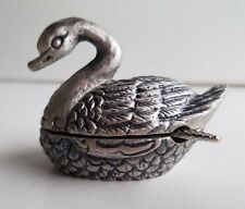 WHOLESALE...Pewter Swan and Spoon Salt/Sugar Holder (Lot of 5)