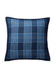 RALPH LAUREN Evan Plaid Linen Throw Toss Pillow