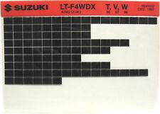 Suzuki LT-F4WDX King Quad 1996 1997 1998 Parts Catalog Microfiche s531