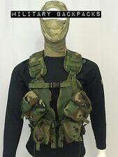 Mint Vest Tactical Load Bearing Enhanced Gun Harness Woodland 30rd Mag Pouches