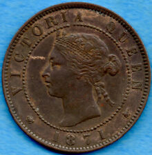Canada P.E.I. 1871 1 Cent One Large Cent Coin - VF/EF