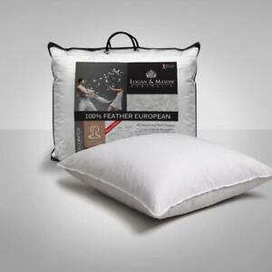 100% Feather European Pillow by Logan & Mason