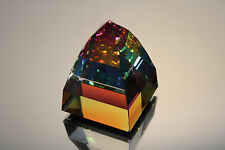 Swarovski Crystal Small Pyramid Paperweight Vitrail Medium 7450 Nr 40 Mint Coa