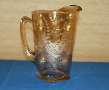 Jeanette Glass Louisa Floragold  Iridescent 64 oz. Pitcher