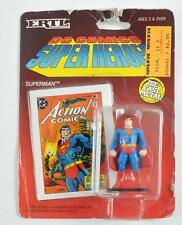 ERTL 1990 DC COMICS SUPER HEROES SUPERMAN ACTION FIGURE W/ COLLECTOR'S CARDS