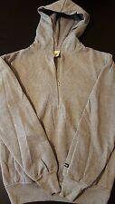 Vintage 80s Youth Kids Fruit Of Loom Upper Cuts Pullover Zip Hooded Sweatshirt
