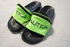 NAUTICA ASLIEA WOMENS SLIDES SANDALS WITH FANNY PACK SIZE 7 QW2724 NEON GRN/BLK