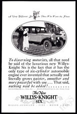 1925 Willys-Knight auto print ad - The New 6 - art bride & groom