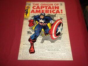 WA1 Captain America #109 marvel 1969 silver age 7.5/vf- comic! ORIGIN ISSUE!
