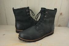 UGG HANNEN TL 1008139  BLACK LEATHER SHEEPSKIN LINED MENS BOOTS US 18  NEW