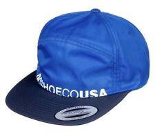 DC Shoes BMX Skateboarding Crockeye 5 Panel Hat ADYHA03747 Blue White Logo