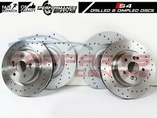 FOR AUDI S4 B8 S5 V6 V8 11-15 FRONT DIMPLED REAR DRILLED PERFORMANCE BRAKE DISCS