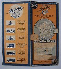 #) carte MICHELIN 86 LUCHON - PERPIGNAN 1943