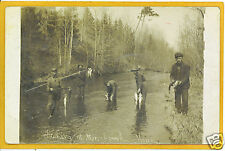 Real Photo Postcard RPPC Fishing Stonybrook Minnesota