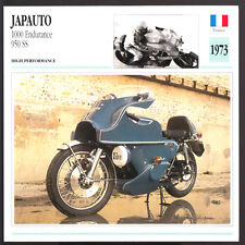 1973 Japauto 1000 Endurance 950 SS Street/Bol d`Or Motorcycle Photo Spec Card