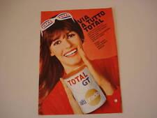 advertising Pubblicità 1969 OLIO TOTAL GT