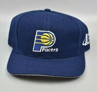 Indiana Pacers NBA Logo Athletic Vintage 90's Wool Adjustable Strapback Cap Hat