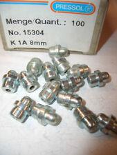 15 Stück PRESSOL Verzinkte Einschlag-Nippel Schmiernippel K1 H1 A 8 mm DIN 71412
