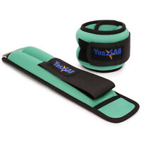 Yes4All Ankle/Wrist Weight Pair Set with Adjustable Strap Pair of 2.5 lbs Green