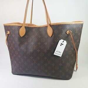 Authentic Louis Vuitton Neverfull GM Monogram M40157 Hand Tote Guaranteed LC760