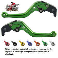 MC Short Adjustable CNC Levers Honda CB599 / CB600 HORNET 1998 - 2006 Green