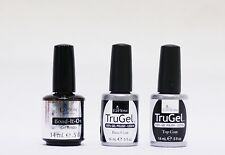 Ezflow Nail TruGel LED/UV Gel Polish Bond It On + Base + Top Coat .5oz/15mL ~3ct