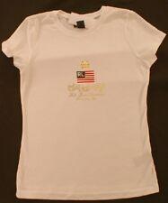 Ralph Lauren Polo Jr Ladies T-Shirt Flag Crown New NWT