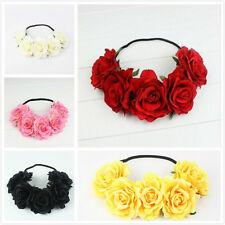 Girl Crown Floral Rose Flower Headband Hairband Wedding Hair Garland Headpiece