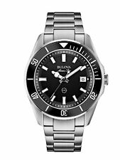 Bulova Marine Star Men's Quartz Watch with Black Dial Analogue Display 98B203