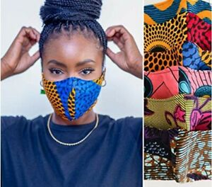Made with Afro-Caribbean Ethnic Tribal Printed Fabrics Retro Colourful Washable