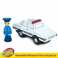 Policeman Pete in Police Cruiser Car, Wooden Toy Train Figure